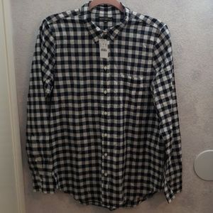 J. CREW Gingham classic button-down shirt in boy f